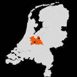 Kaart Servicegebied Totaal Dakdekkers
